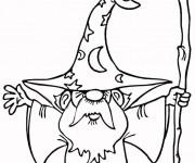 Coloriage et dessins gratuit Magicien et son Bâton magique à imprimer