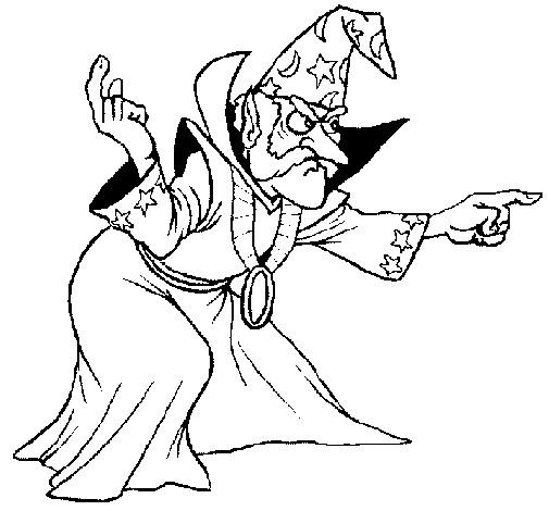 Coloriage et dessins gratuits Magicien méchant à imprimer