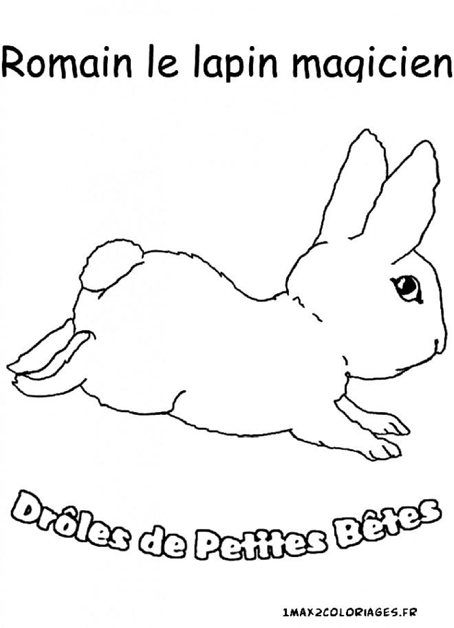 Coloriage et dessins gratuits Romain Le Lapin Magicien à imprimer