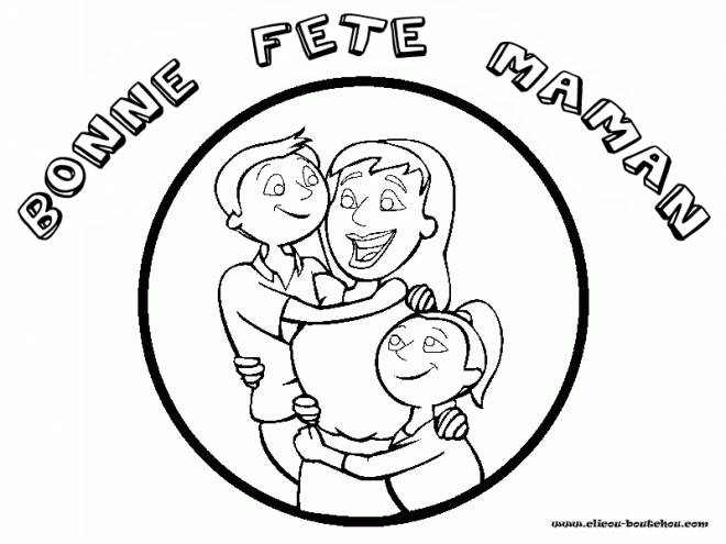 Coloriage et dessins gratuits Bonne fête maman à imprimer