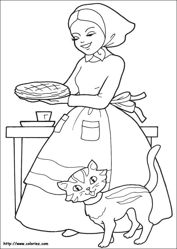 Coloriage et dessins gratuits Chaperon Rouge gratuit à imprimer