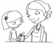 Coloriage Dessin Maman et sa fille