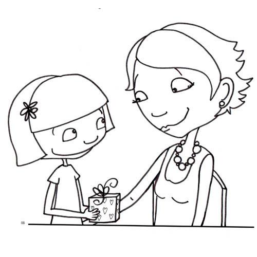 Coloriage dessin maman et sa fille dessin gratuit imprimer - Dessin pour maman et papa ...