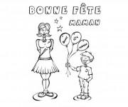 Coloriage dessin  Maman 12