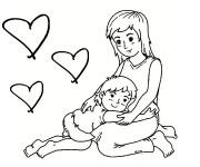Coloriage dessin  Maman 15