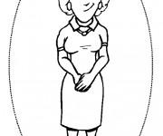 Coloriage dessin  Maman 18