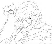 Coloriage dessin  Maman 9