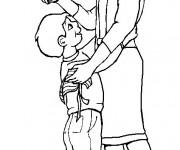 Coloriage Maman avec son enfant