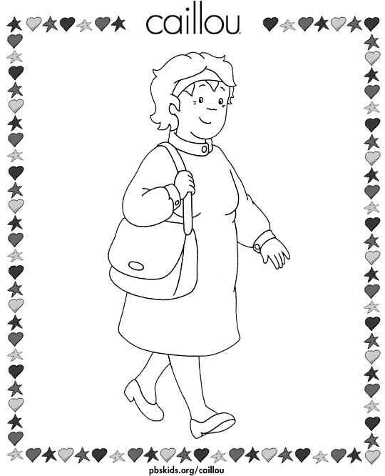 Coloriage et dessins gratuits Maman de Caillou à imprimer
