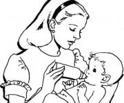 coloriage maman dessin pour enfant - Coloriage Maman