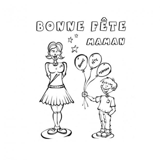 Coloriage et dessins gratuits Maman Fête à imprimer