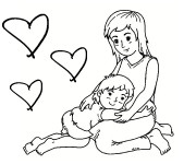 Coloriage Maman je t'aime