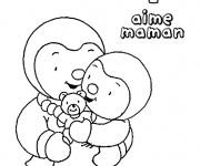 Coloriage Maman Tchoupi