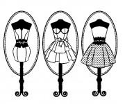 Coloriage Bustes de couture