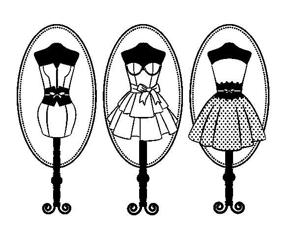 Coloriage bustes de couture dessin gratuit imprimer - Dessin de couture ...