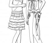 Coloriage Des Filles Mannequins