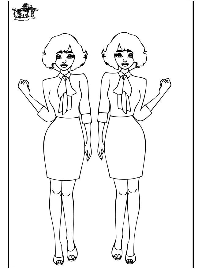 Coloriage et dessins gratuits Les Mannequins à imprimer