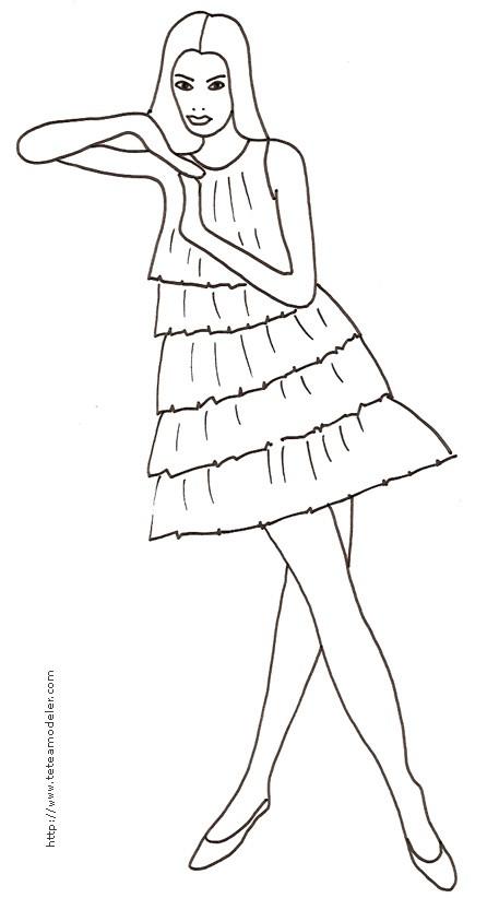 Coloriage et dessins gratuits Mannequin 13 à imprimer