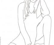Coloriage dessin  Mannequin 34