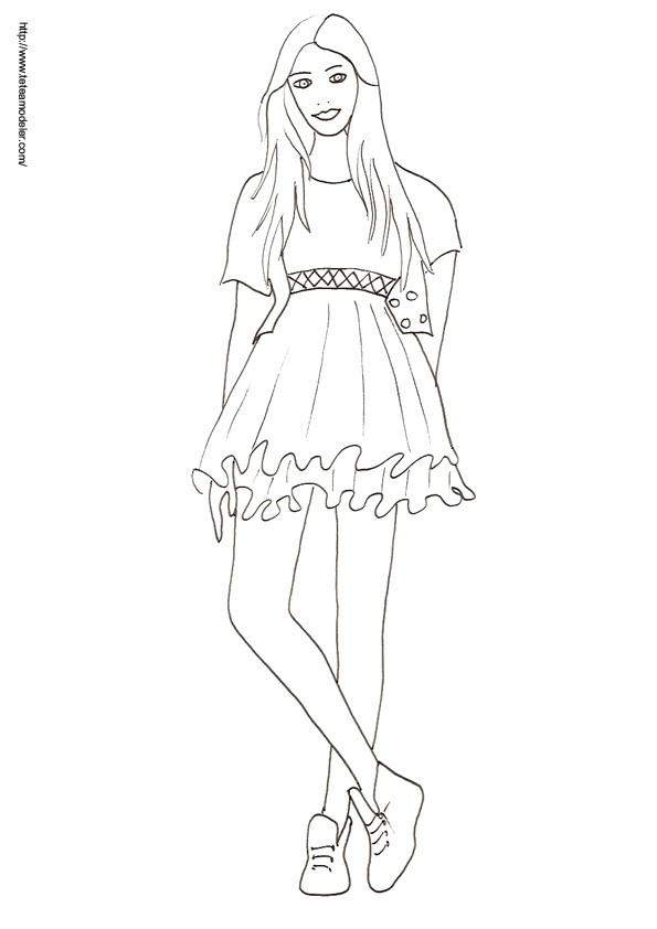 Coloriage et dessins gratuits Mannequin 5 à imprimer