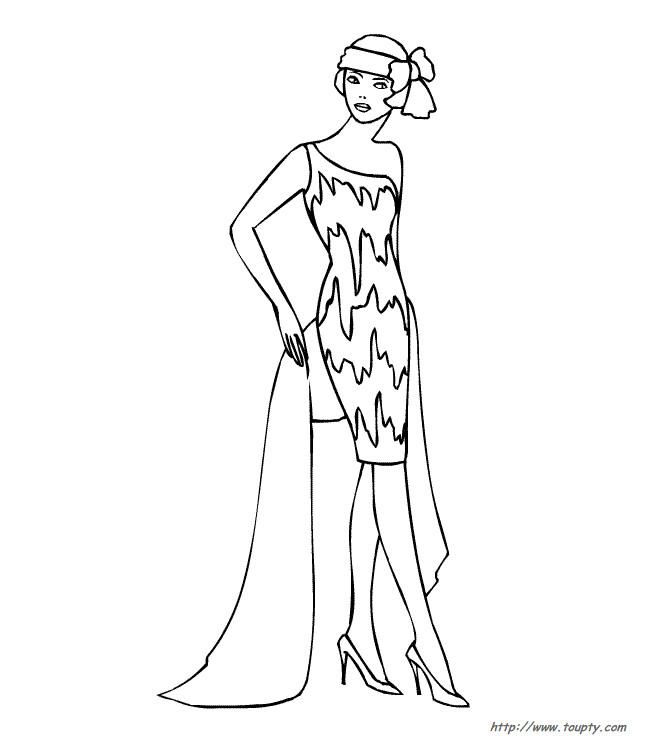 Coloriage et dessins gratuits Mannequin à découper à imprimer