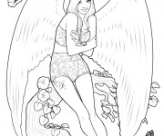 Coloriage Mannequin Ange