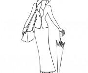 Coloriage et dessins gratuit Mannequin de couture à imprimer
