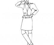 Coloriage Mannequin de couture Top modéle