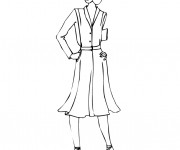 Coloriage et dessins gratuit Mannequin en couleur à imprimer