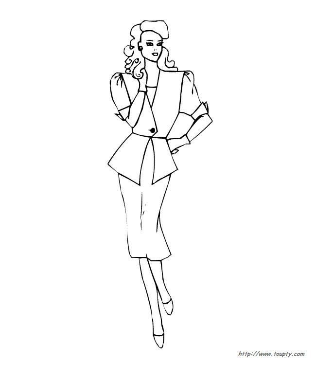 Coloriage et dessins gratuits Mannequin en robe à imprimer
