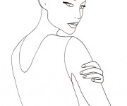 Coloriage Mannequin haute couture Pose