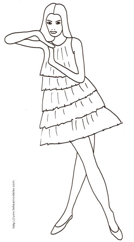 Coloriage mannequin maternelle dessin gratuit imprimer - Top model a imprimer ...