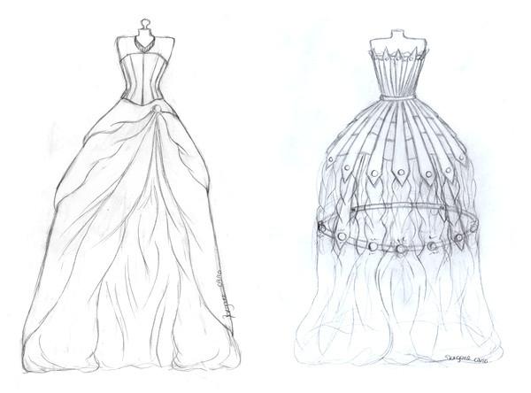 Coloriage Mannequin mode silhouette dessin gratuit à imprimer
