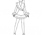 Coloriage Mannequin model