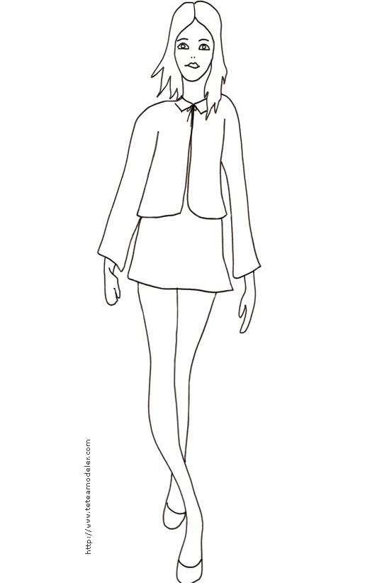 Coloriage mannequin mod le aimable dessin gratuit imprimer - Mannequin coloriage ...