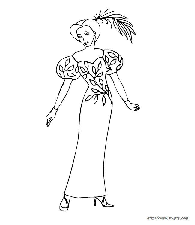 Coloriage et dessins gratuits Mannequin portant un beau chapeau à imprimer