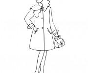 Coloriage Mannequin portant un manteau