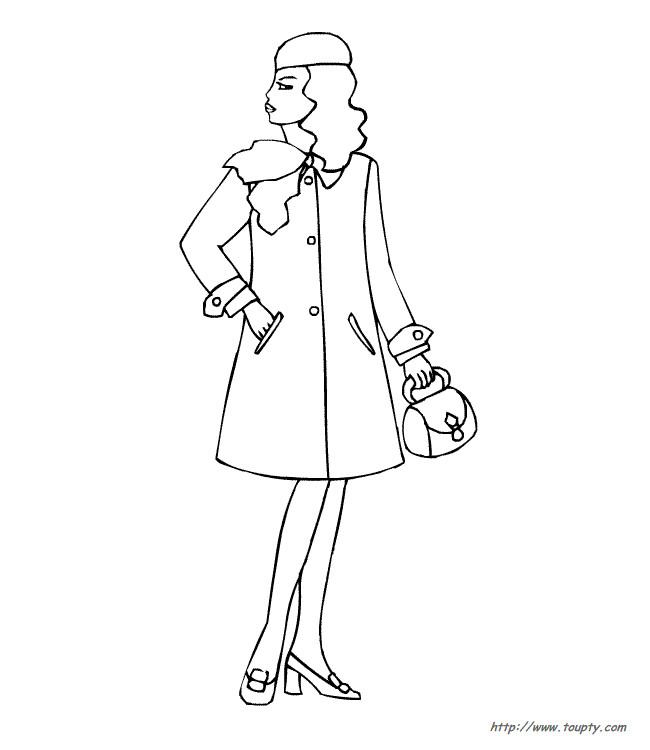 Coloriage et dessins gratuits Mannequin portant un manteau à imprimer