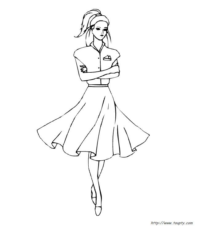 Coloriage mannequin pour styliste dessin gratuit imprimer - Coloriage top model a habiller ...