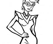 Coloriage Mannequin pour styliste