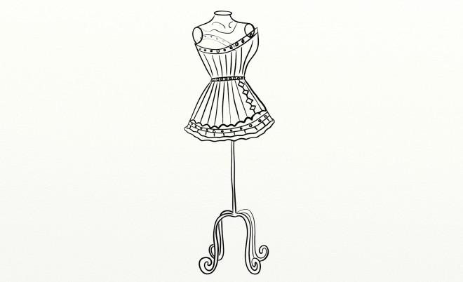 Coloriage et dessins gratuits Mannequin pour vêtements à imprimer
