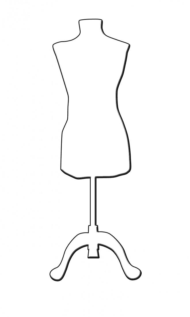 Coloriage mannequin pr sentoir dessin gratuit imprimer - Mannequin coloriage ...