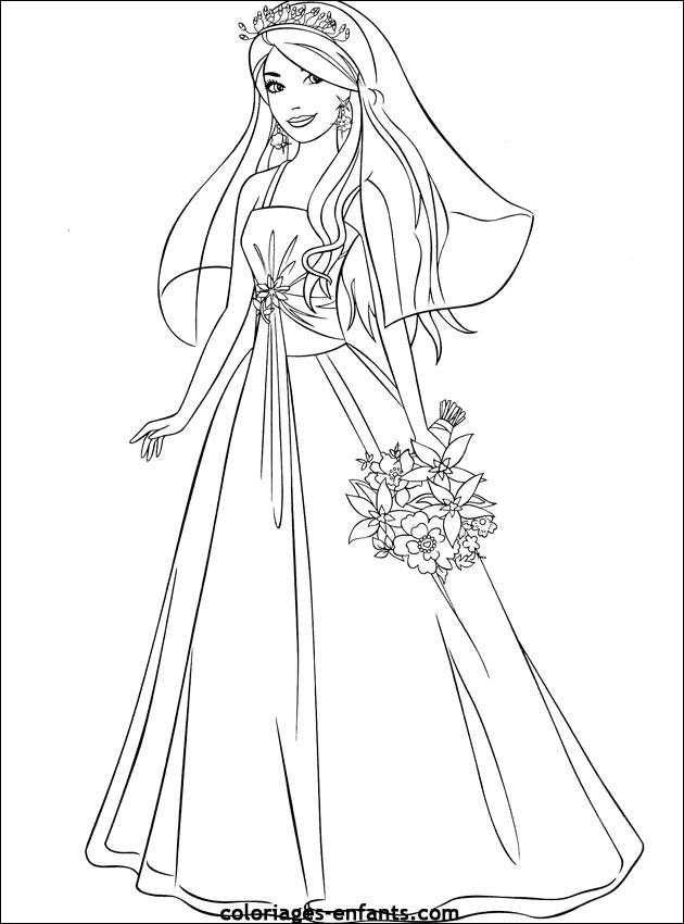 Coloriage Mannequin Princesse dessin gratuit à imprimer