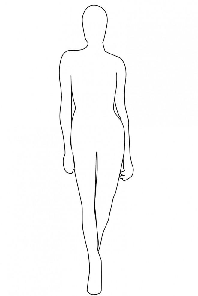 Coloriage Mannequin Simple A Habiller Dessin Gratuit A Imprimer