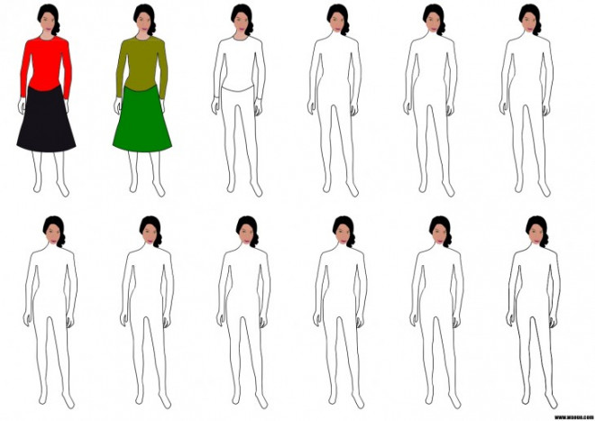 Coloriage mannequins habiller et couleur - Coloriage top model a habiller ...