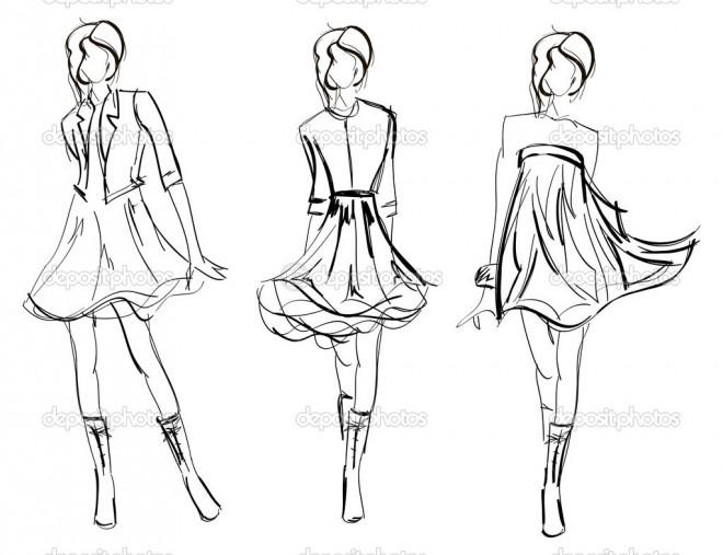 Coloriage et dessins gratuits Mannequins de couture styliste à imprimer
