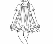 Coloriage Petite fille Mannequin