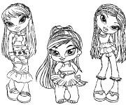 Coloriage Petites Mannequins animé
