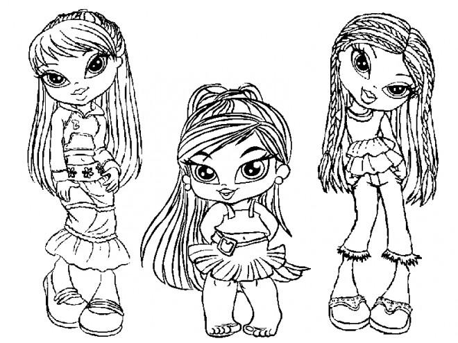 Coloriage et dessins gratuits Petites Mannequins animé à imprimer