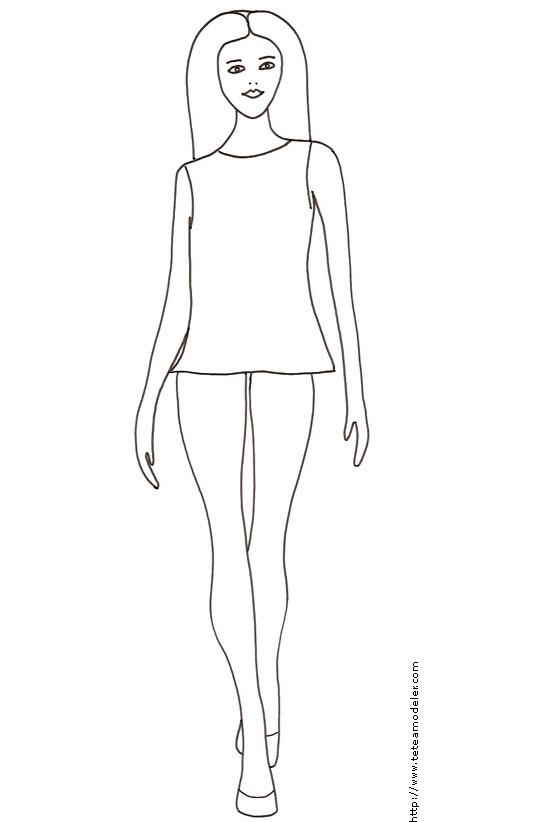 Très bien Coloriage Top Modele haute couture facile dessin gratuit à imprimer @US_98